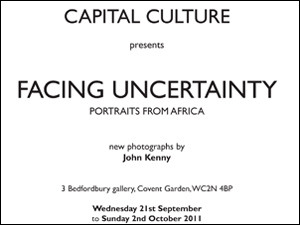 'Facing Uncertainty - Portraits from Africa' - Final weekend - Talk this Saturday October 1st @ 2pm