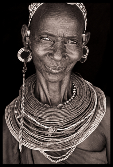 Amazing smile from a Rendille woman, North Kenya